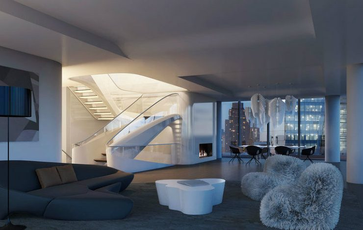 Discover The $50 Million New York Penthouse by Zaha Hadid Architects large ZahaNY 740x470  Front Page large ZahaNY 740x470