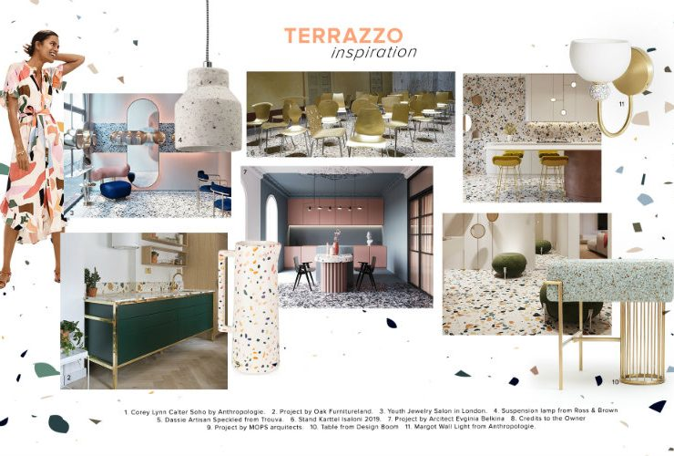 Can You Handle This Trend? - Terrazo terrazo Can You Handle This Trend? – Terrazo moodboard trends 2020 terrazzo 740x500