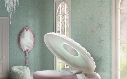 kids bedroom The Best Pulls For a Kids Bedroom With a Little Mermaid's Theme Girls Mermaid Bed 480x300
