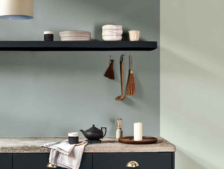 tranquil dawn Can You Handle This Trend? – Tranquil Dawn DULUX Colour of the Year 2020 Tranquil Dawn in kitchen 740x560
