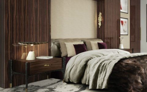 Fall Bedroom Decorations For A Cozy Room fall bedroom decorations Fall Bedroom Decorations For A Cozy Room Bed Side Table with Decorative Hardware 480x300