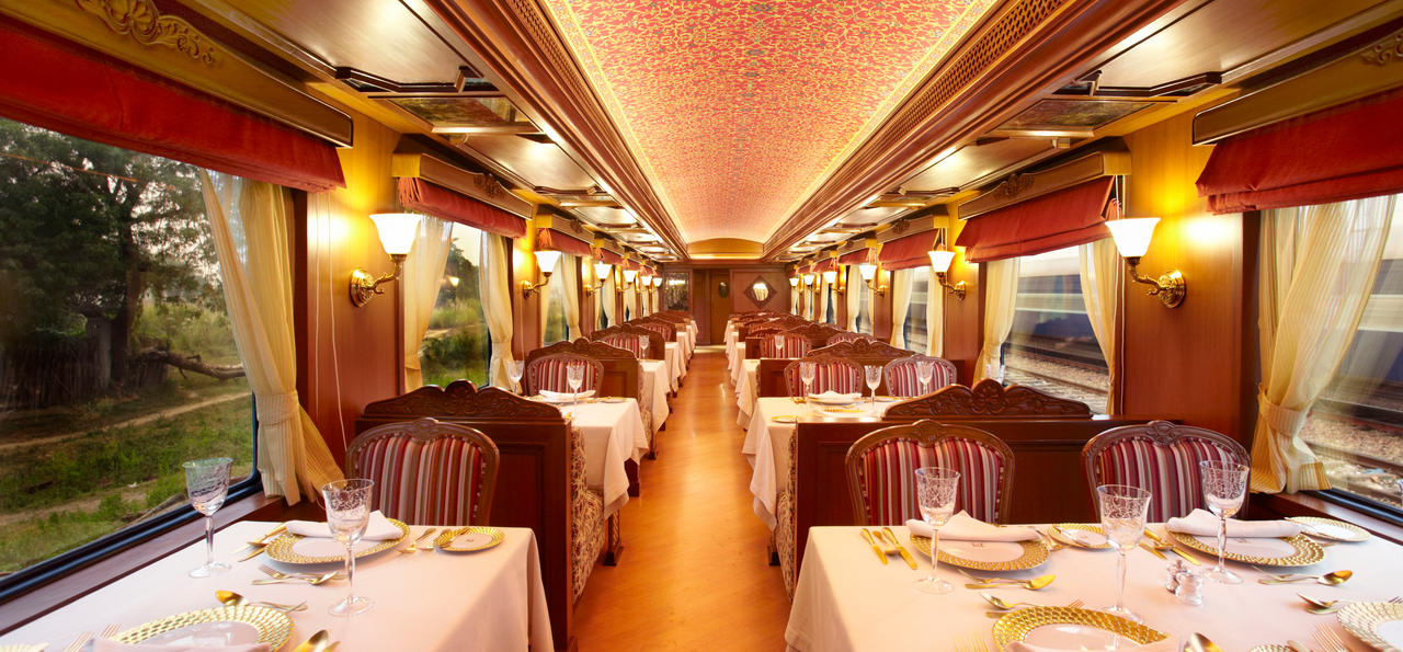 These Luxury Trains Are The Most Expensive In The World luxury trains These Luxury Trains Are The Most Expensive In The World Restaurant Car Maharajas Express 160896
