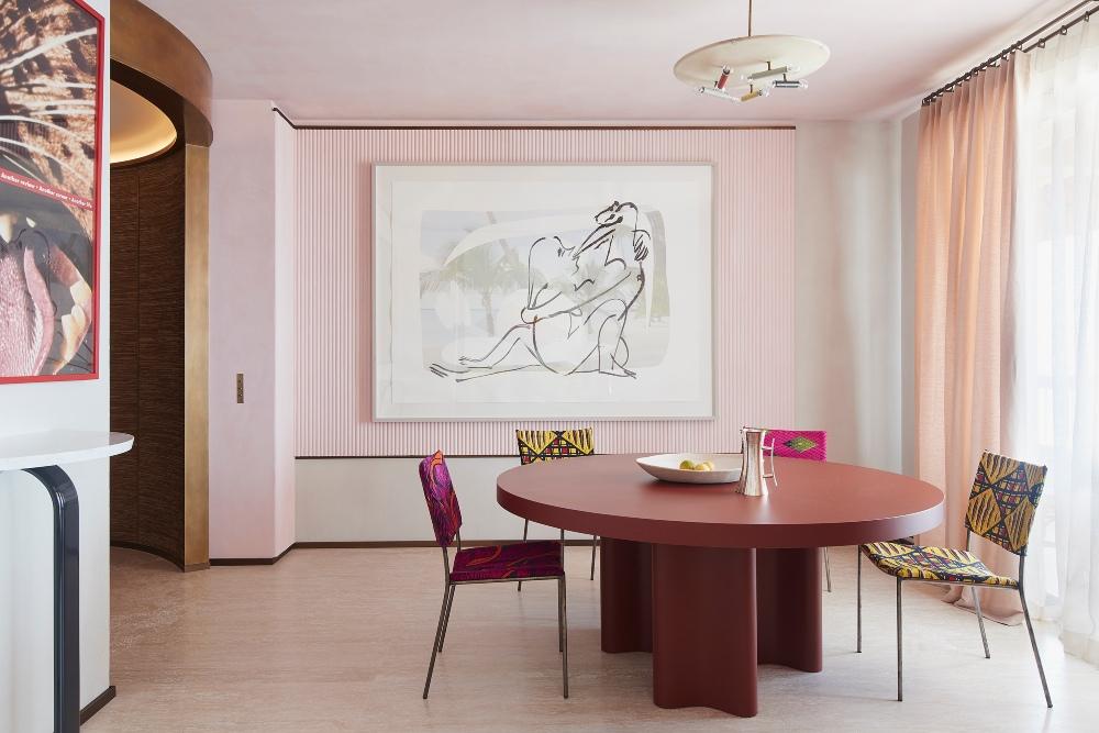 interior design Rodolphe Parente: A Conveyer of Textures in Artistic Interior Designs 002 Rodolphe Parente Appartement Sud 1
