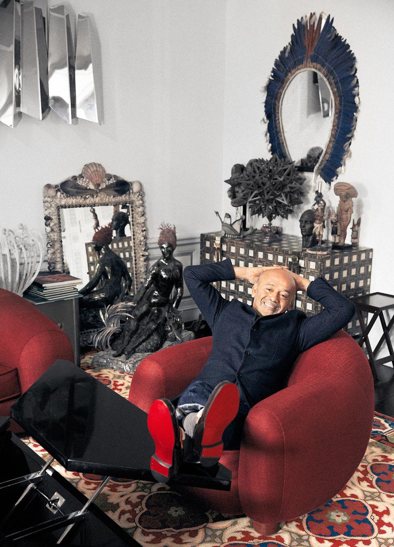 Celebrity Lifestyle Step Inside Christian Louboutin's Parisian Home (3)