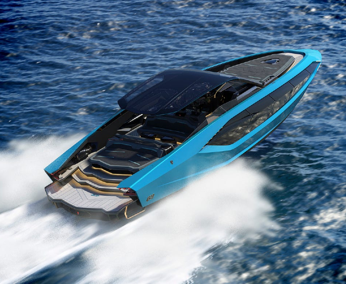 luxury yachts Luxury Yachts: Revel in the Beauty of the Tecnomar for Lamborghini 63 featured 4