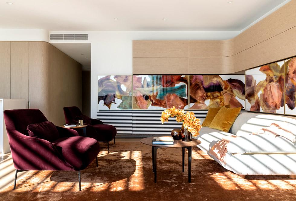 top 28 sydney interior designers Top 28 Sydney Interior Designers SMART DESIGN STUDIO Alexander at Barangaroo 01 Living room