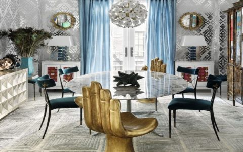 impressive interior design projects by jonathan adler Impressive Interior Design Projects by Jonathan Adler A    Modern American Glamour Abode 480x300