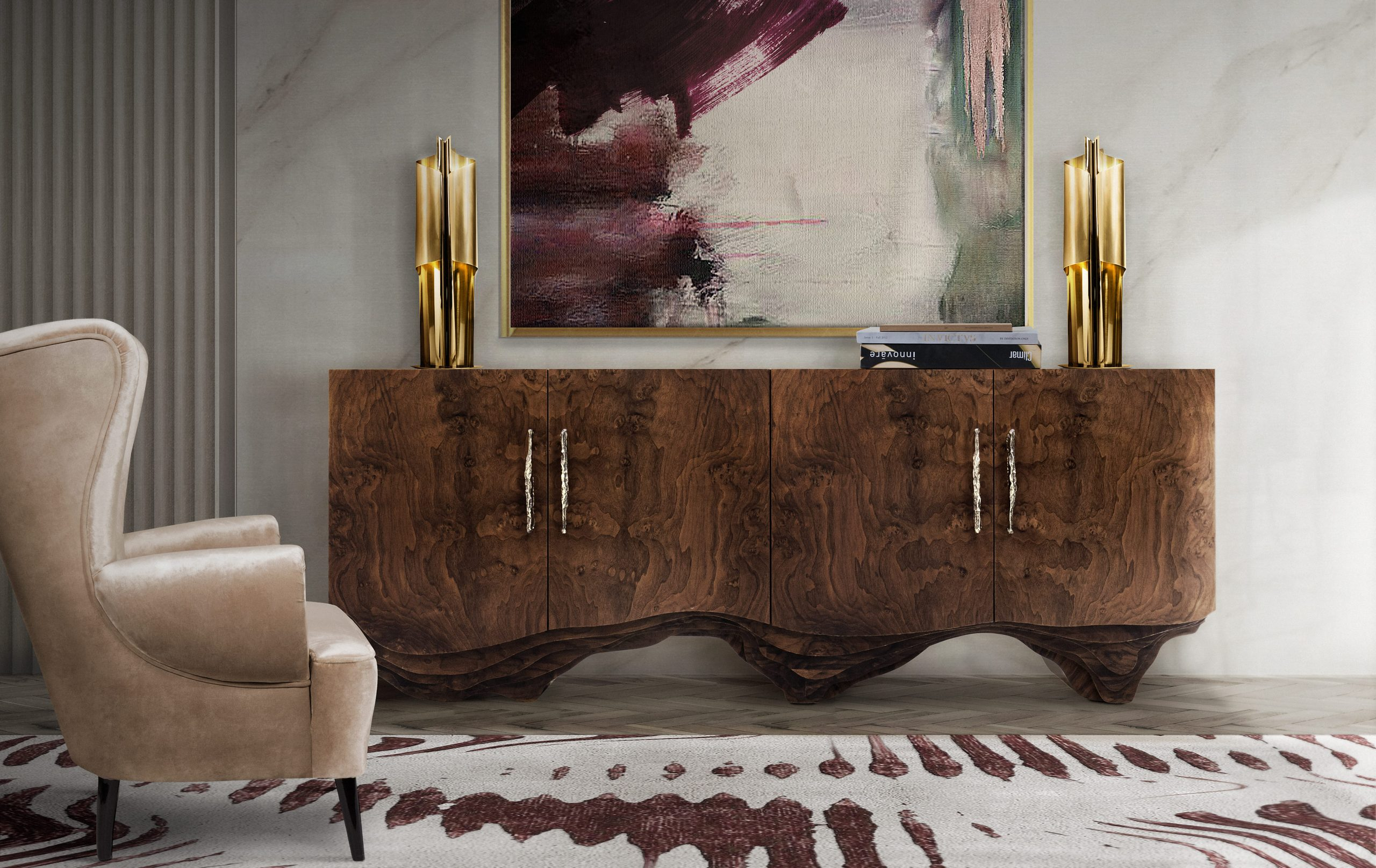 Kesya Cabinet Pull by PullCast in living room design