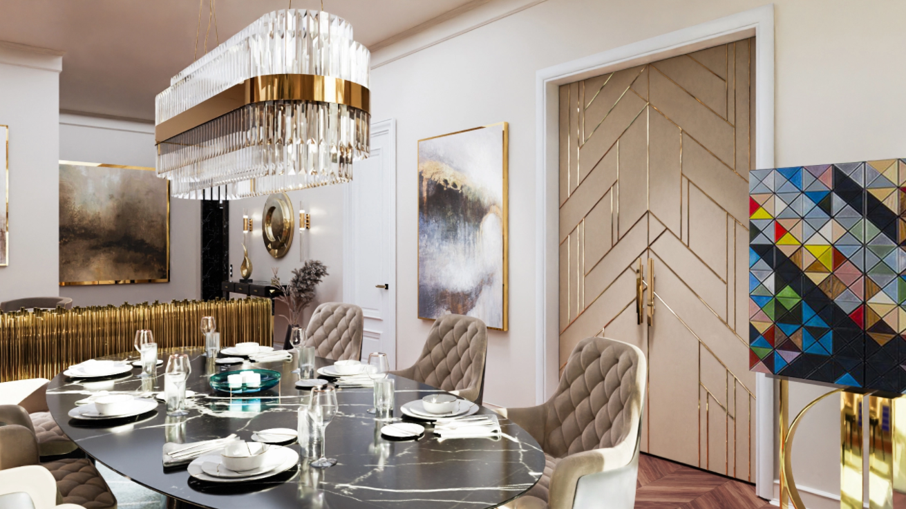 Modern Classic Luxury Flat in Chelsea With PullCast Hardware