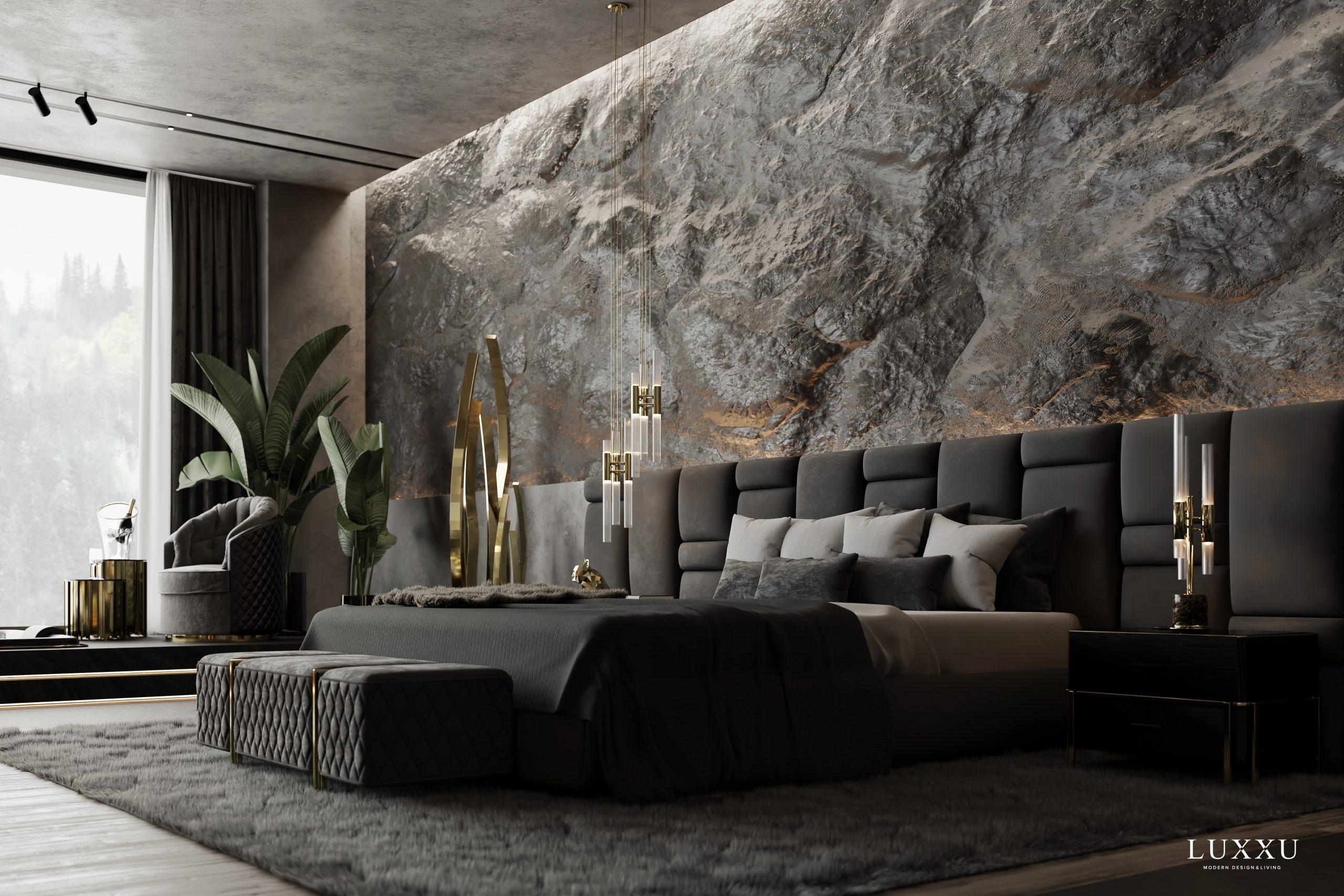Opulent Dark Bedroom